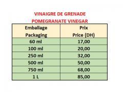 Vinaigre de Grenade 100% Naturel