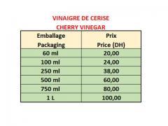Vinaigre Cerise 100% Naturel