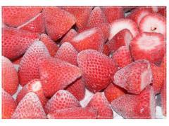 Fraises surgelée:couleur rouge foncée nettoyées et surgelées